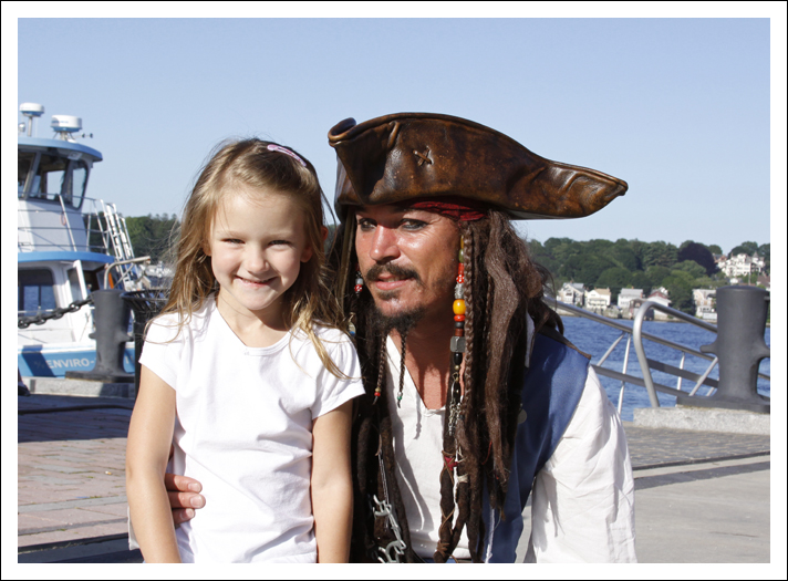 Madilyn with Capt. Jack. - Sailfest in New London, CT